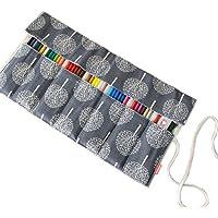 Damero Canvas Wrap per matita colorata,(NO Pencils inclusi),Crochet Ganci e Gadget,72 fori, Albero
