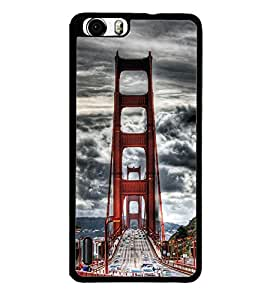 Fuson Premium 2D Back Case Cover London Bridge With Brown Background Degined For Huawei Honor 6
