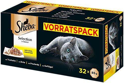 Sheba Selection in Sauce - Katzenfutter im Frischepack - Nassfutter für die täglichen Verwöhnmomente