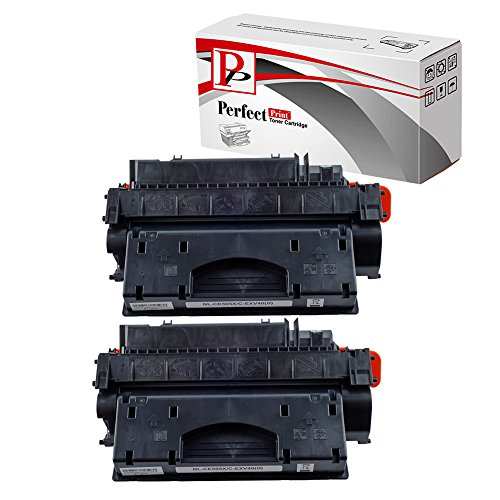 PerfectPrint - 2 negro cartucho de tóner Compatible PerfectPrint sustituir la CE505X para HP P2050 P2055 P2055d P2055dn P2055X impresoras