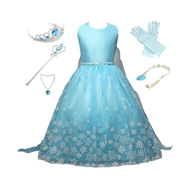 Anbelarui Prinzessin Kleid Madchen Langes Festliches Karneval Kinder