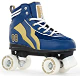 Rio Roller Varsity Quads Rollschuhe Disco Roller Blau-Gold Blue-Gold, 46