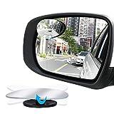 Poseca Auto Toter Winkel Spiegel, HD Glas Konvexer Rückspiegel mit einstellbarem Weitwinkel 360 °einstellbar Oval 2 Stück