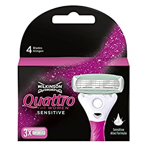Wilkinson Sword Quattro For Women Sensitive Disposable Razors