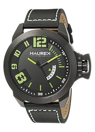 Haurex Italy Men's 6N509UAN Storm Analog Display Quartz Black Watch