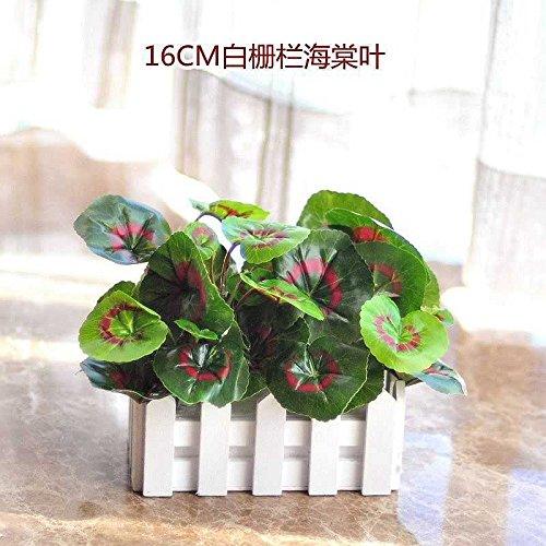 Jhyflower Pure Style gefälschte Grüne Pflanzen gefälschte Blumendekoration Innen und Außendekoration Zaun Grüne Topfpflanzen Künstliche Blumen und Pflanzen militärische Grüne 16CM Weiße Gerste Qualle