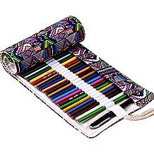 IBuyi Couleur étui à crayons crayons, la Grande pour l'école, la maison, l'art. Aussi pour l'artiste, Adultes Livres, dessin et croquis Rédaction (36 Slots Bohemian)