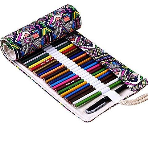 Trousse, Étui à crayons, Pencil Case, 36/48/72 Slots disponibles (72 Slots, Bohemian)