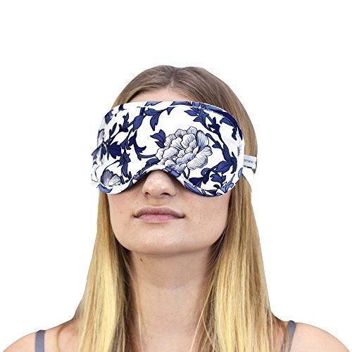 jasmine-seta-100-pura-seta-riempito-eye-mask-dormire-maschera-maschera-sonno-blu-e-bianco-porcellana