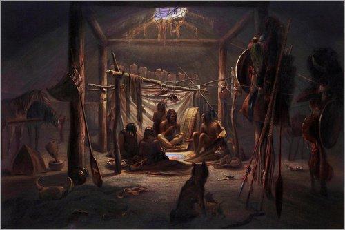 Posterlounge Holzbild 150 x 100 cm: Mandan Indianer von Karl ()