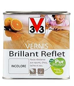 V33 - Vernis Interieur Brillant Incolore 0.75 Litres
