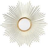 dcasa - Espejo de pared industrial dorado de metal para salon factory de 55 cm