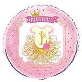 Fournitures de fête d' 1er anniversaire des filles roses et dorées
