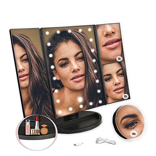 Gut Led Kosmetikspiegel Mit 10fach Vergrößerungsspiegel Schminkspiegel Set Make Up Badzubehör & -textilien