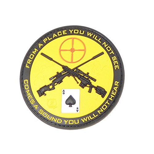 From A Place Sniper Patch Ace Of Spades Moral Patch Pvc