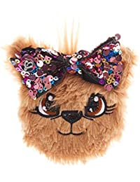 5823156cde4d Claire s Girl s JoJo Siwa™ Bow Bow Plush Sequin Bow Purse - Brown
