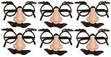 Dkbees ® 6 Disguise-Nez Moustache de surprises pour mariage/fête des agents de remplissage de sac/Enfant Blague