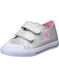 Pablosky 255507 - Zapatillas para Niñas, Color Blanco y Rosa, Talla 34