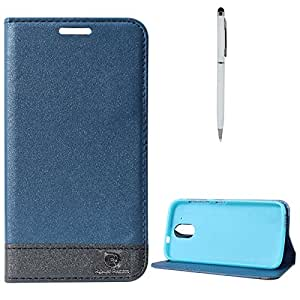 DMG HTC DESIRE 526 Flip Cover, DMG PRaiders Premium Magnetic Wallet Stand Cover Case for HTC DESIRE 526 (Pebble Blue) + Pen Stylus