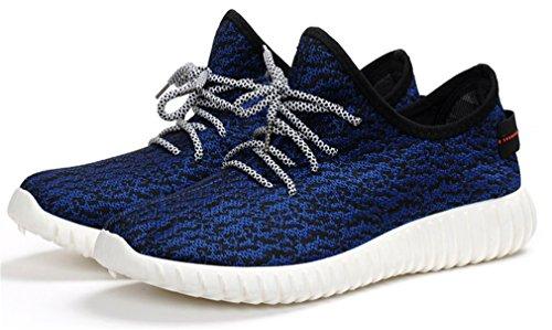 NEWZCERS Casual scarpe da ginnastica di moda Leggero piedi scarpe sportive per gli uomini Blu scuro