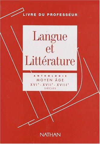 Langue et littérature, livre du professeur