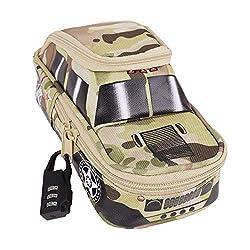 """♣ Kapazitäts-SUV-Auto mit Kennwort-Verschluss Federmäppche. ♣ Größe: 21.5*9.5*10.5cm/8.4*3.7*4""""(L*B*H) ♣ Material: Nylon, wasserdicht und robust. ♣ Farbe: Gelb Grün Grau. Feature: ♣ Dieser Stiftbeutel ist sehr stilvoll und kreativ und stellt die best..."""