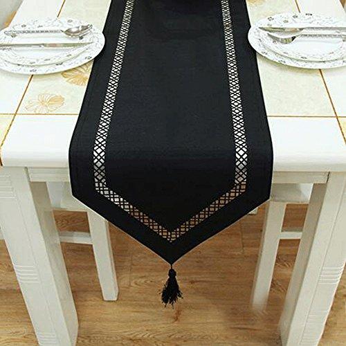 PRIDE S Schwarze Art und Weise hohle nachgemachte Seide Tuch-Tafel-Kamin-Tabellen-Läufer Tischdecke Tischset (größe : 33*200cm)