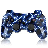 PS3 Controller Wireless Bluetooth Gamepad Six-Axis Remote Joystick for Playstation 3 with USB Cord (Deep Blue)