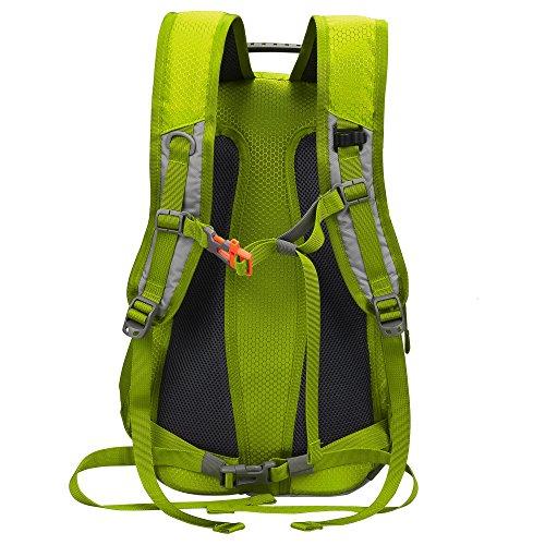 begorey 25L Nylon Wasserdicht Unisex Outdoor Sport Schulrucksack Klettern Camping Reisen Rucksack Hellgrün