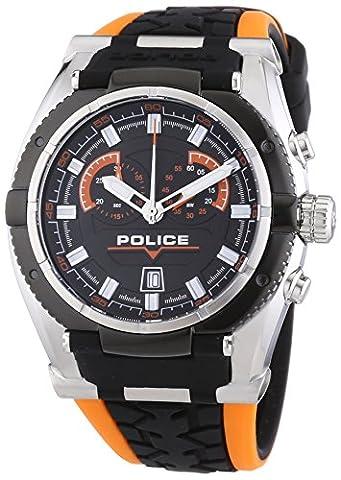 Police - P14215JSTB-02A - Montre Homme - Quartz Chronographe - Chronomètre - Bracelet Silicone