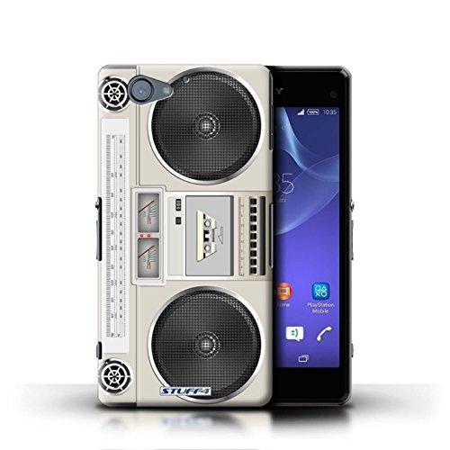 Kobalt® Imprimé Etui / Coque pour Sony Xperia A2 / Compact Cassette Audio conception / Série Retro Tech Boombox