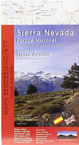 Sierra Nevada National Park Map. Alpujarra, marquesado del Zenete. Scale 1:40.000. Editorial Penibética.