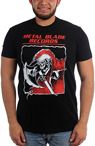 Metal Blade Records-T-Shirt da uomo Old School Reaper nero Large