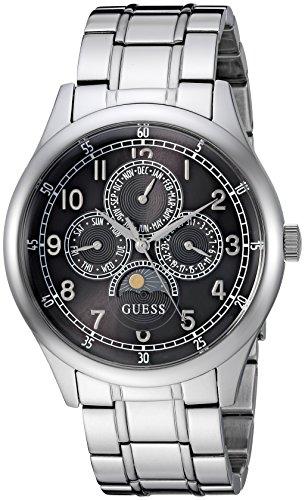 Guess in acciaio INOX casual orologio al quarzo da uomo, colore tonalità argentata (Model: U1110G1)