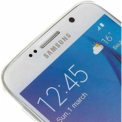3Q Funda Samsung Galaxy S6 Carcasa Novedad Mayo 2016 Diseño Suizo Funda Galaxy S6 Transparente