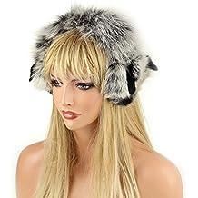 Real orejeras pelo con pelo banda cinta real piel de oído calentadores orejeras orejeras pelo zorro mapache pelo