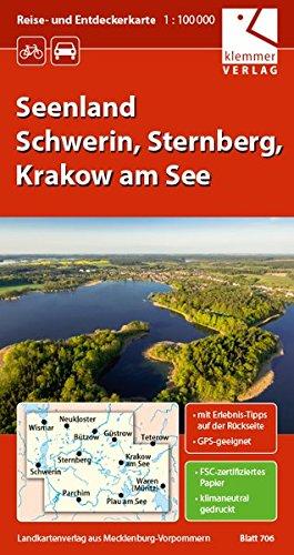 Reise- und Entdeckerkarte Seenland Schwerin, Sternberg, Krakow am See: Maßstab 1:100.000, GPS-geeignet, Erlebnis-Tipps auf der Rückseite