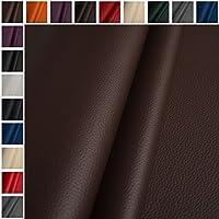 Cuero artificial piel sintética mirada de cuero tela parê tapicería marrón por metro