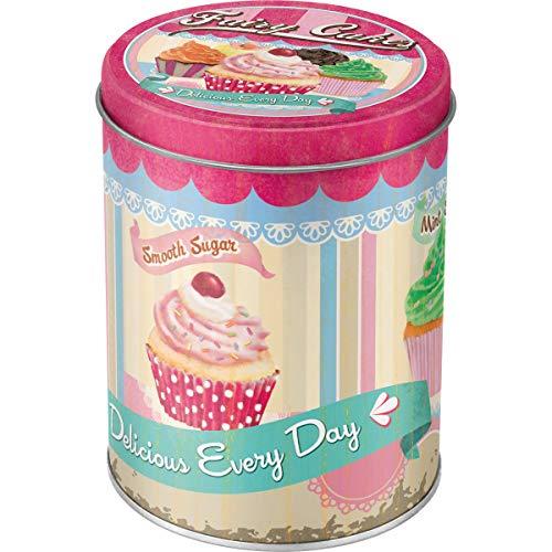 Nostalgic-Art 30518 Home und Country Fairy/Cup Cakes, Vorratsdose Rund Muffin-top-dosen