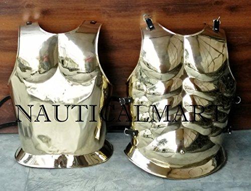 NAUTICAL MART Nautical Mart Greek Brass Muscle Armor Halloween Costume
