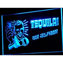 Cartel Luminoso ADV PRO j004-b TEQUILA Have You Hugged Your Toilet Neon Sign