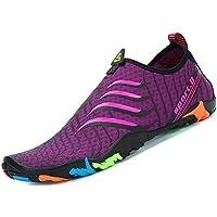 katliu Zapatos de Agua Mujer Hombre Escarpines para Surf Piscina Playa Yoga  Deportes Acuáticos 76962329a7a