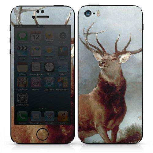 Apple iPhone SE Case Skin Sticker aus Vinyl-Folie Aufkleber Hirsch Wald Natur DesignSkins® glänzend