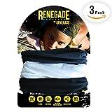 12 in 1 MULTIFUNKTIONSTUCH für Damen und Herren von Renegade Active: Schlauchtuch, Halstuch, Bandana oder Piratentuch, Kopftuch, Haarband, Skimaske, Sport-Stirnband - 3er Set - Verschiedene Farben