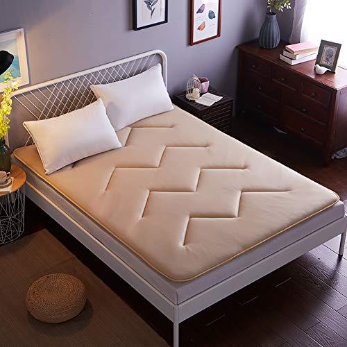 GJFLife Atmungsaktive Futon Matratze Verdickt Boden Tatami, Zusammenklappbar Weich Polyester Bett Kissen Single Double Betten Schlafen pad-C 180x200x4cm