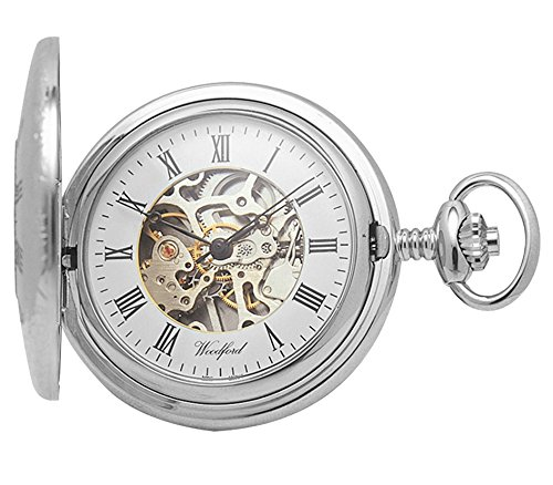 woodford-skeleton-half-hunter-pocket-watch-1020-mens-chrome-finished-wth-chain-suitable-for-engravin
