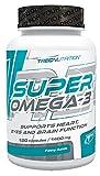 Trec Nutrition Super Omega 3 essentielle Fettsäure Supplement Vitamine Mineralien Diät Ernährung Sport 120 Kapseln