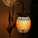 Earthenmetal Handcrafted Flower Bud Shaped Designer Hanging Wall Lamp/Light With Metal Fitting