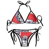 Women's Beachwear Bikini,Body Builder Icon Strength Sexy Bikini 2 Pieces