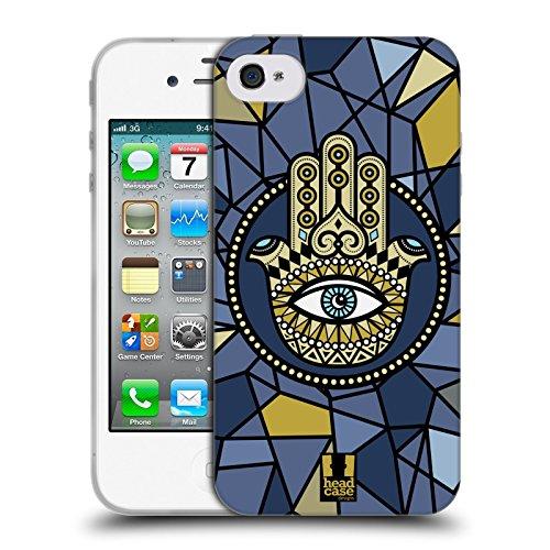 Head Case Designs Fatima Hamsa Cover Morbida In Gel Per Apple iPhone 7 / iPhone 8 Stella Con Mezzaluna
